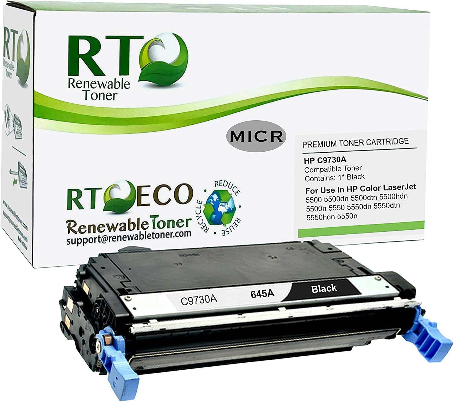 Renewable Toner Compatible Toner Cartridge Replacement for HP 645A C9731A for Laserjet 5500 5550 (Cyan)