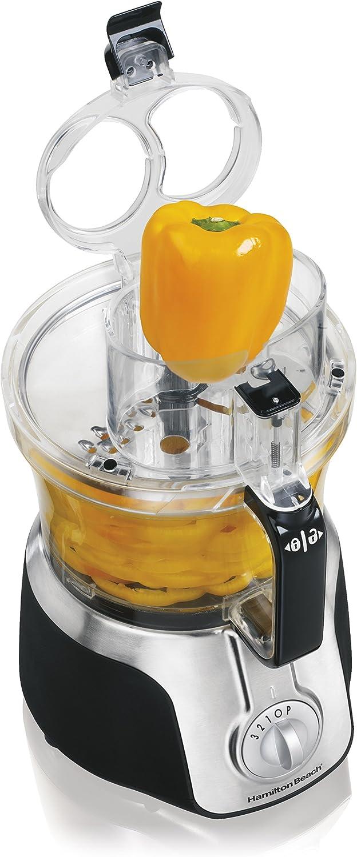 Hamilton Beach 70579 - Robot de cocina (Negro, Plata, De plástico): Amazon.es: Hogar