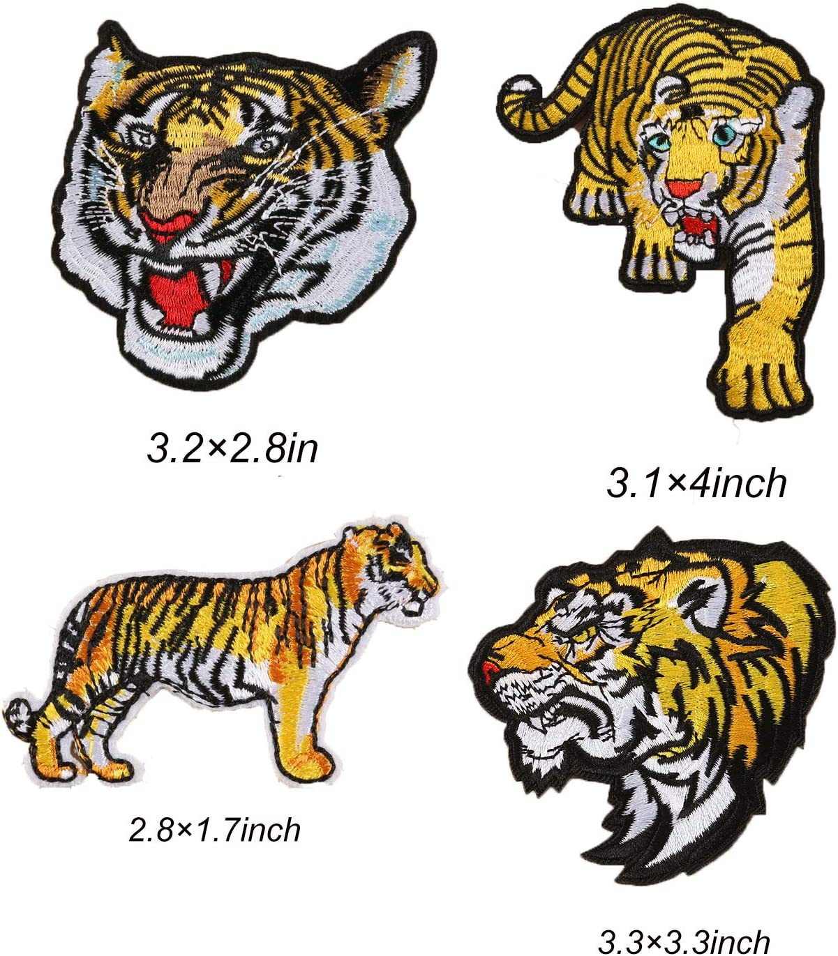 Onuos - Parches bordados de leopardo de león para coser o planchar ...