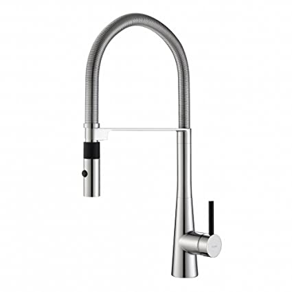 Kraus KPF 2730CH Modern Crespo Single Lever Commercial Style Kitchen Faucet  With Flex Hose,