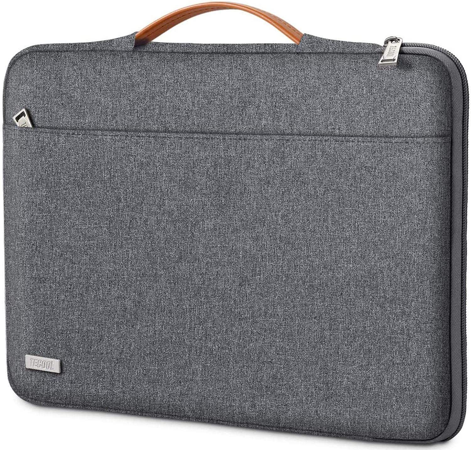 TECOOL 14 Inch Laptop Sleeve Briefcase with Handle & Zip Pocket for 14