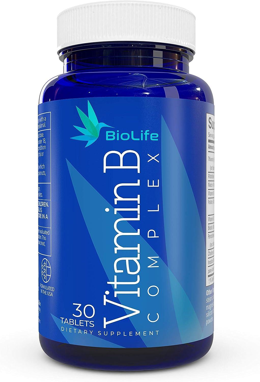 Vitamin B Complex: All B Vitamins B1 - Thiamine, B2,B3,B5,B6,B7 - Biotin,B9 - Folic Acid, B12, plus Choline and PABA - Super B complex vitamins for Immune System Support, Energy supplement, Stress aid