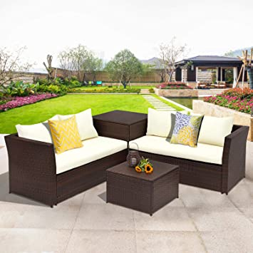 Amazon Com Wisteria Lane Outdoor Patio Furniture Set 4 Piece