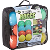 Water Sports Lighted Bocce Ball Set Regulation Size, Outdoor Glow In The Dark Game