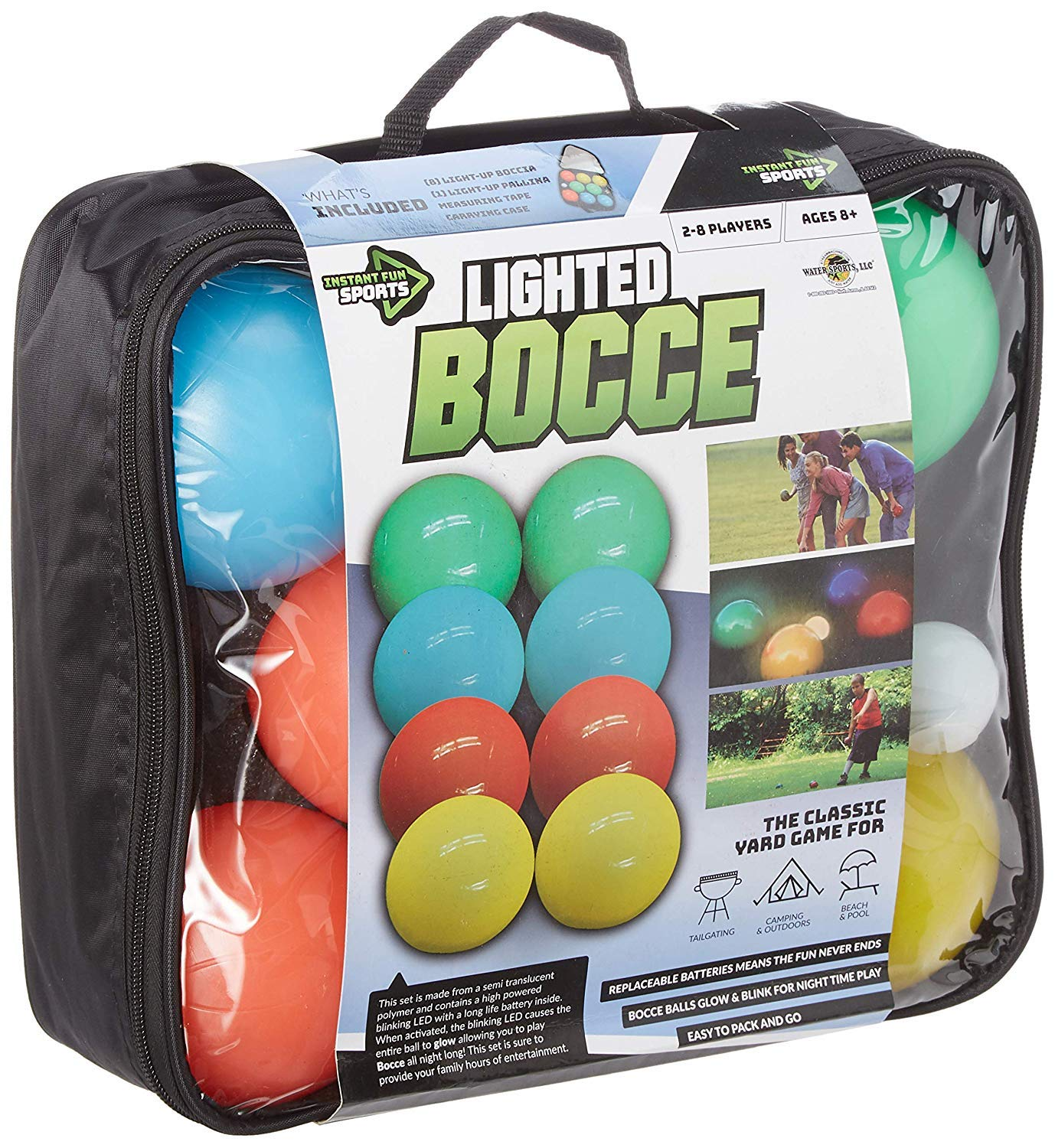 Water Sports Lighted Bocce Ball Set by Water Sports