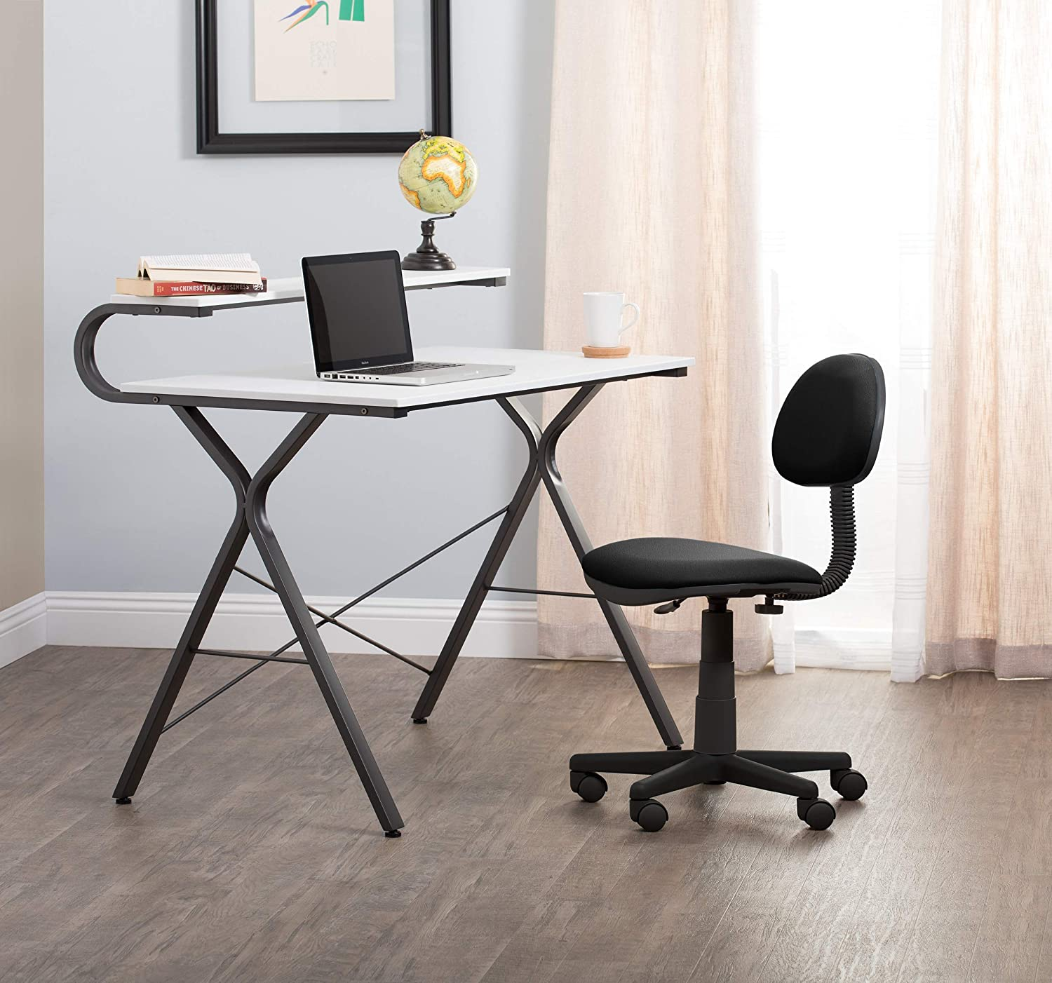 Calico Designs Deluxe Task Chair  Blue with Gray Base 18519