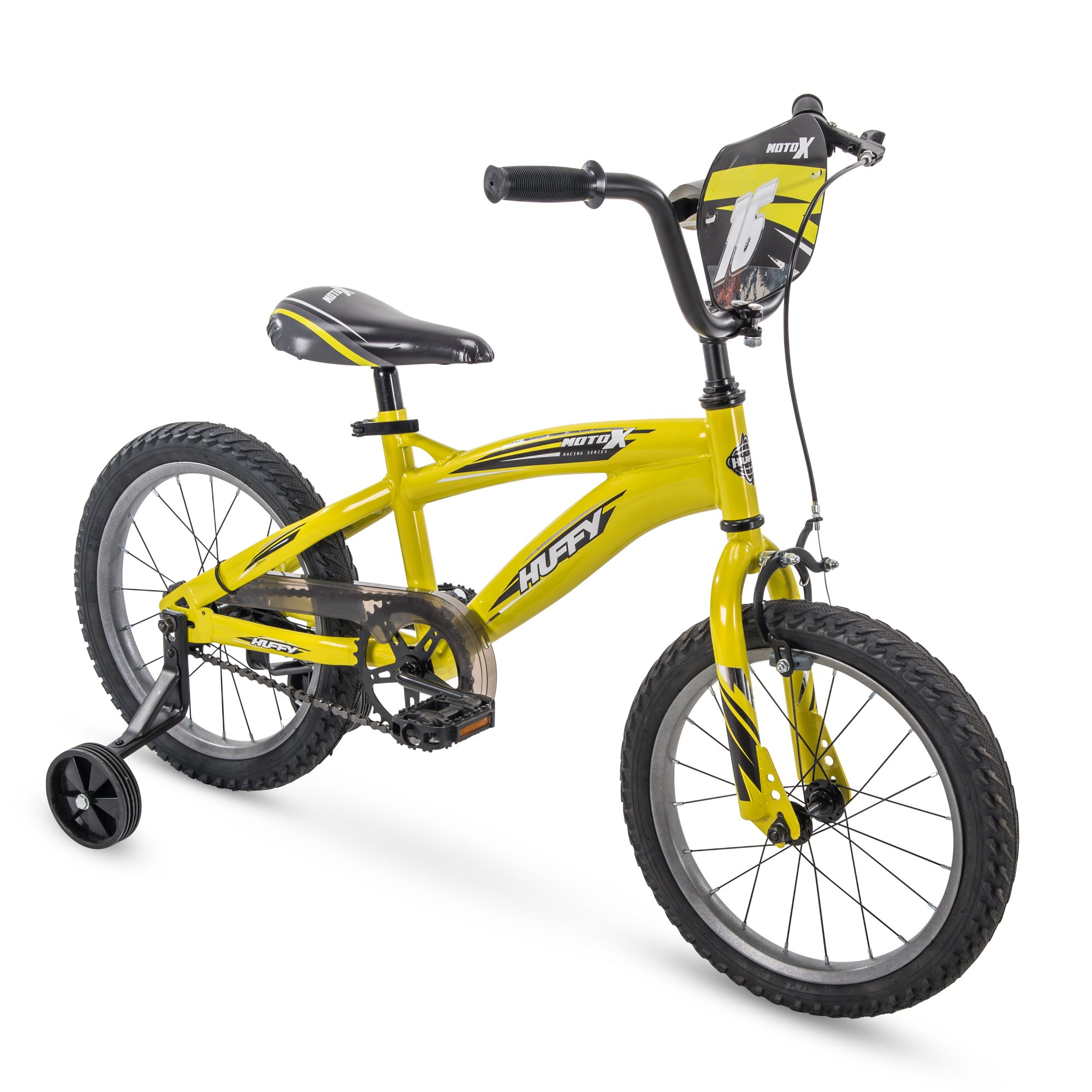 16'' Huffy MotoX Boys Bike, Yellow