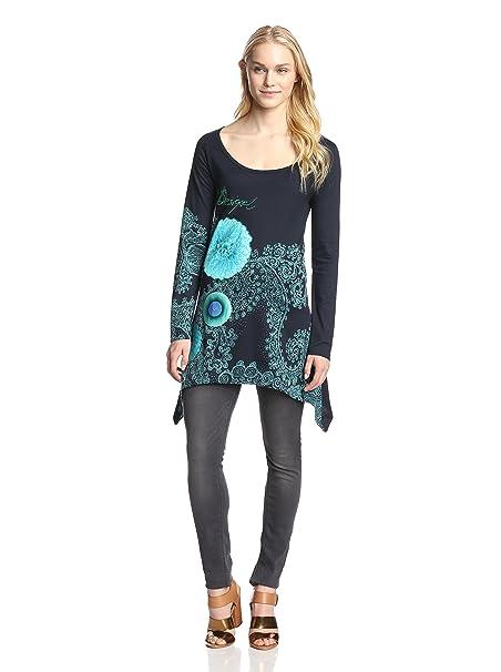8fc0f28fb2d68c Desigual TS_TREISY Maglietta, Blu (Blau (Marino 5001)), S Donna: Amazon.it:  Abbigliamento