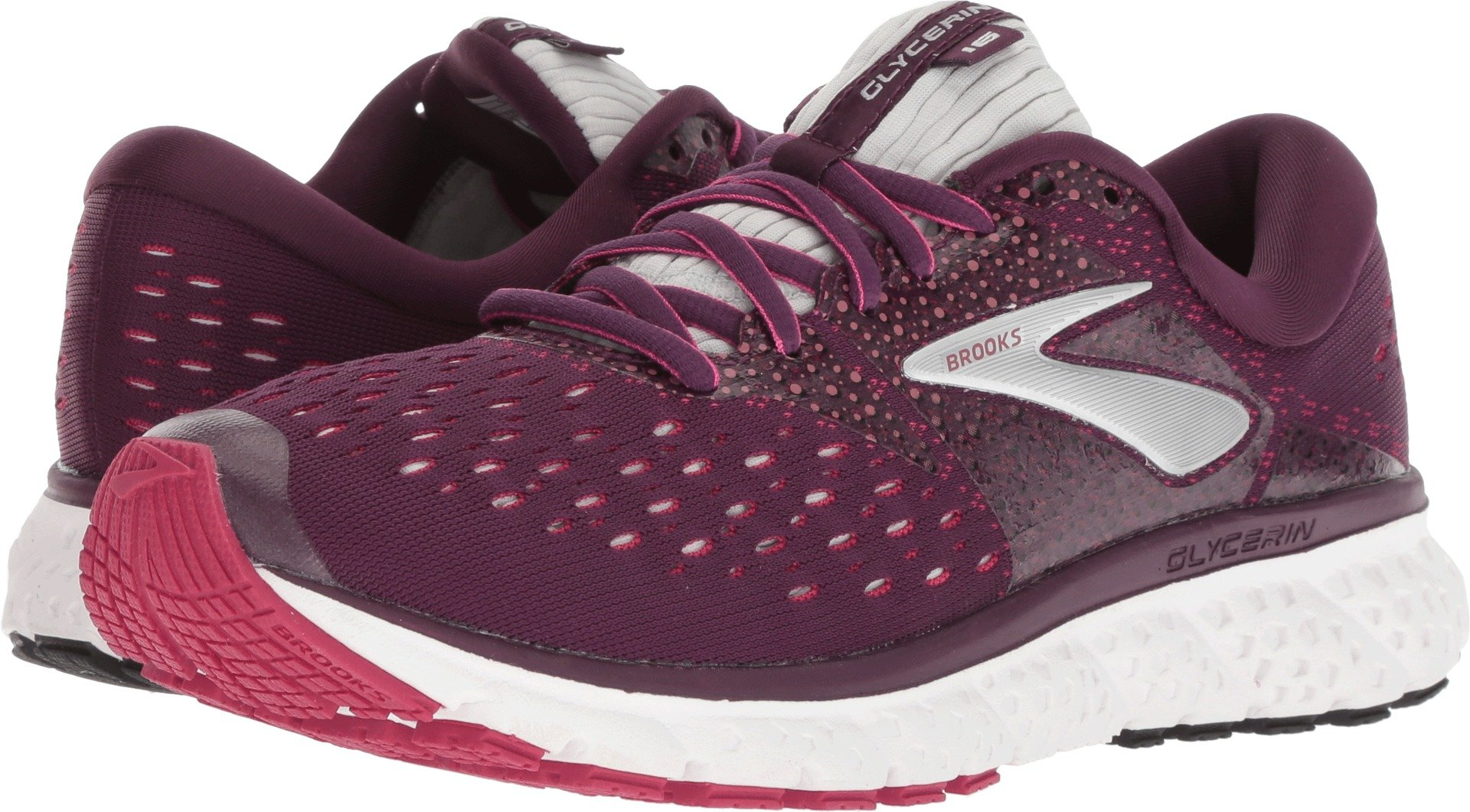 Brooks Women's Glycerin 16 Purple/Pink/Grey 6.5 B US