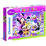 Clementoni - 24724 - Puzzle Super Color - 2 x 20 Pièces - Minnie