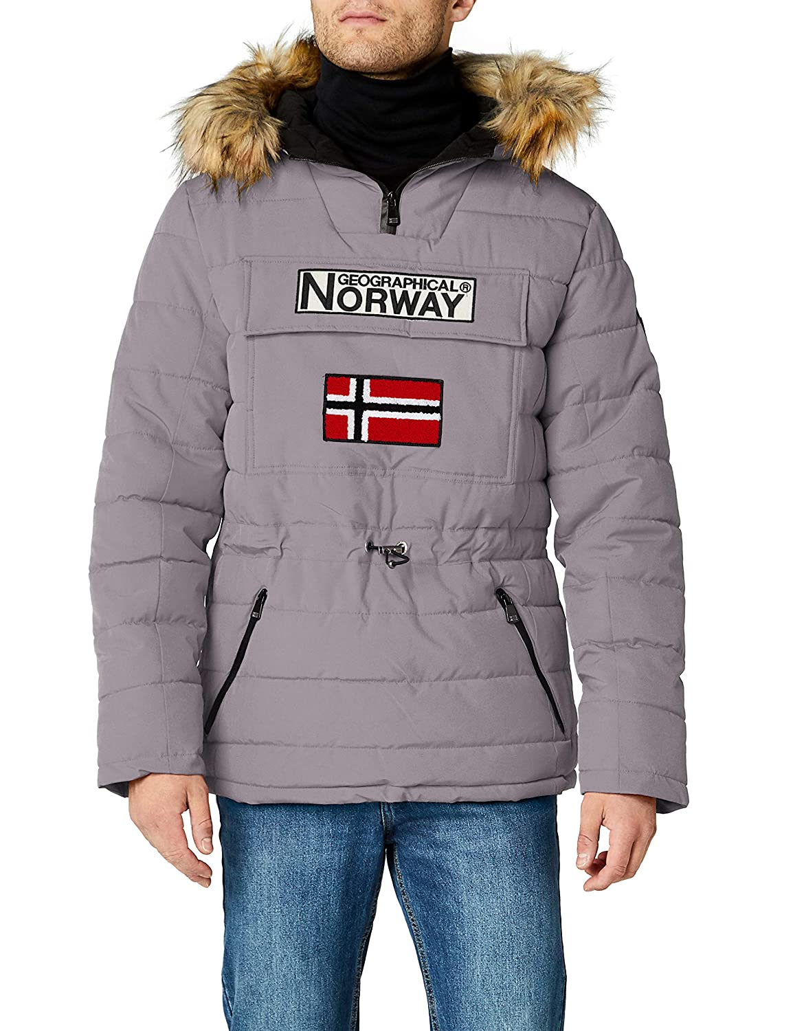 TALLA L. Geographical Norway Casimire, Parka para Hombre