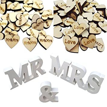 Amazon mr and mrs sign large rustic wedding decorations mr and mrs sign large rustic wedding decorations ilovecos wedding reception anniversary supplies party table decorations junglespirit Image collections