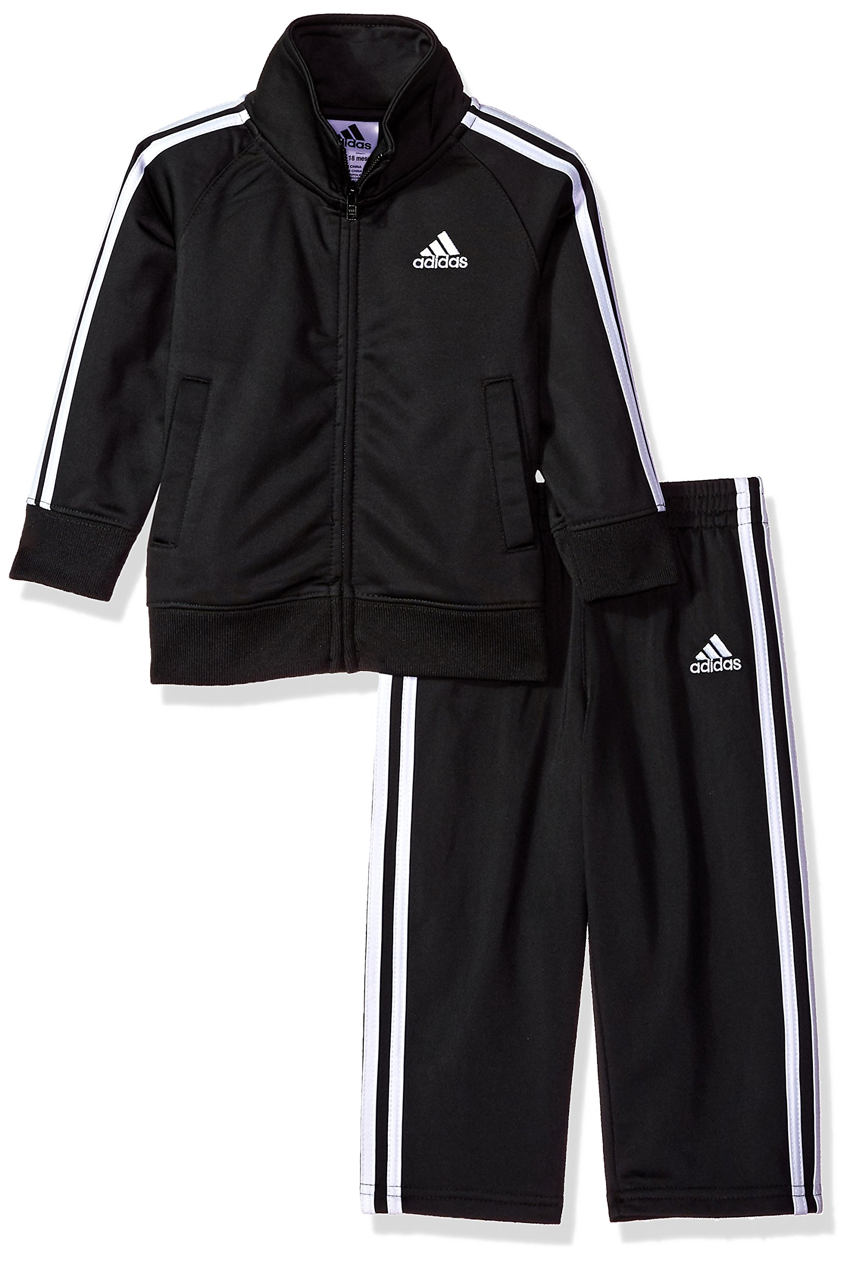 adidas Baby-Boys Lil' Tricot Jacket & Pant Clothing Set