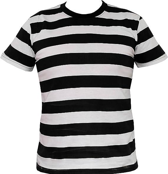 sestante cannuccia circuito  Rock Star Academy T-shirt a righe bianche e nere: Amazon.it: Abbigliamento