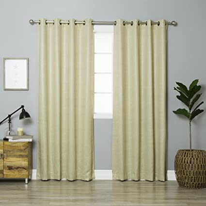 Best Home Fashion Faux Leather Blackout Curtains