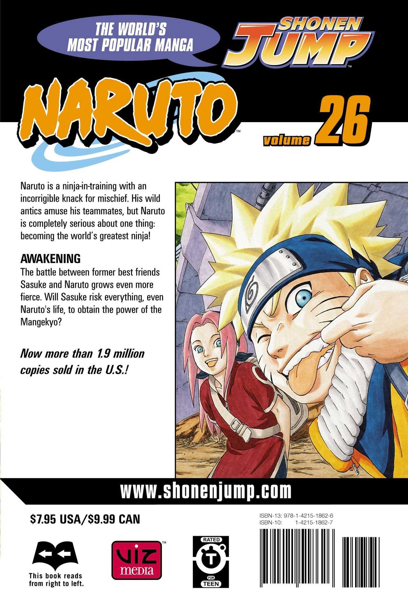 Amazon.com: Naruto, Vol. 26: Awakening (9781421518626 ...