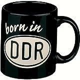 """Henkelbecher """"Born in DDR""""  330ml schwarz"""
