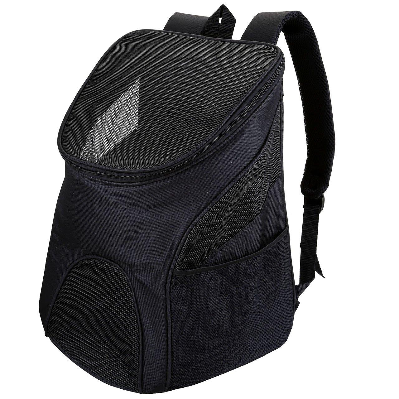 Mogoko Sac à Dos Sac de Transport Voyage pour Chien Chat Animeaux - Oxford Léger Pratique Solide Durable Sécuritaire Confortable - M Noir MMFR000794