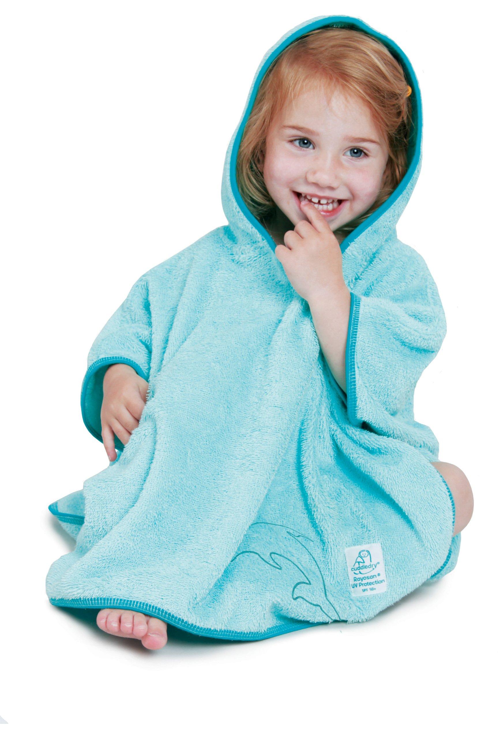 Snuggledry SPF 50+ UV Poncho Towel, Blue by Snuggledry