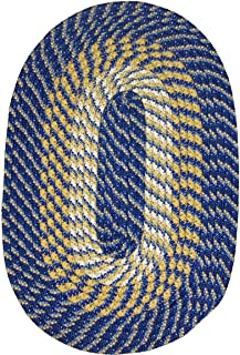 product image for Constitution Rugs Plymouth Braided Rug in Federal Blue 5' Round