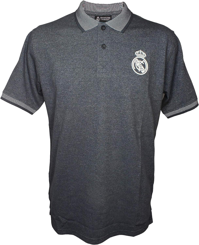 Polo Gris Real Madrid Producto Oficial: Amazon.es: Ropa y accesorios