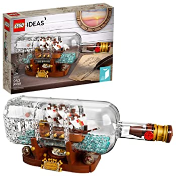 LEGO Ideas Ship in a Bottle Building Toys for Kids