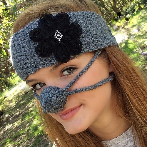 Amazon Ear Warmer Nose Warmer Set Dark Gray By Aunt Martys