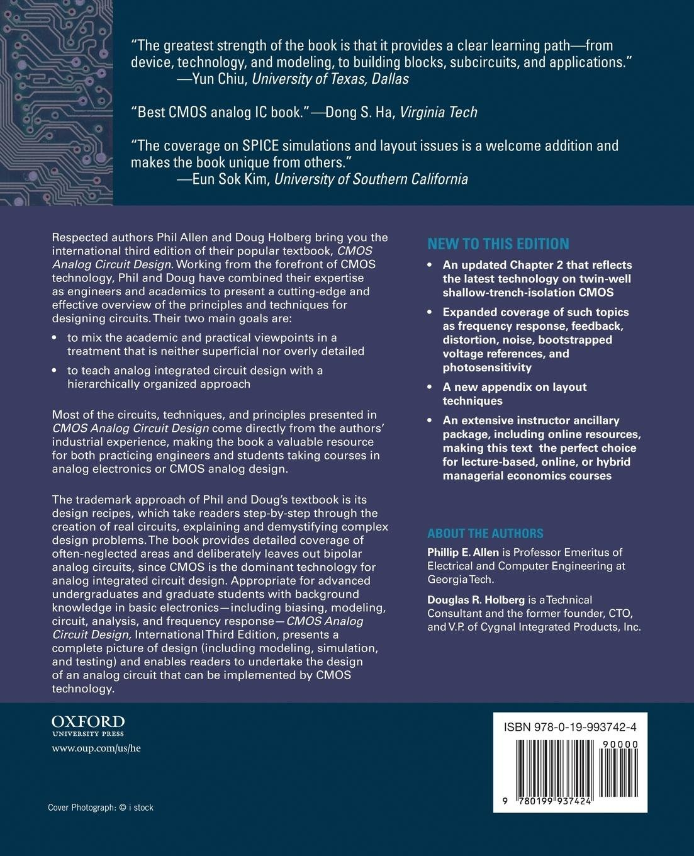 Cmos Analog Circuit Design Phillip E Allen Douglas R Online Holberg Books