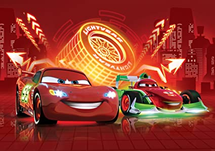 Disney Pixar Cars Wallpaper Neon Red Xxl 368 Cm X 254 Cm L X A