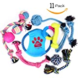 Mighty Ropes Dog Toys Variety Pack- Dog Rope Toys, Squeaky Ball, Durable Bones, Rope Frisbee, Rope Bones, and Chew Ropes