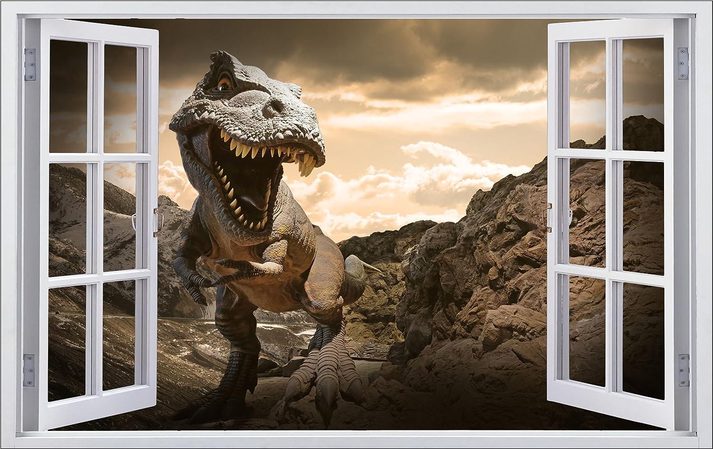 Dinosaurier T-Rex 3D entfernbarer PVC-Aufkleber Hauptdekorativer Aufkleber f/ür Schlafzimmeraufkleber f/ür das Kinderzimmer 57cm X 81cm