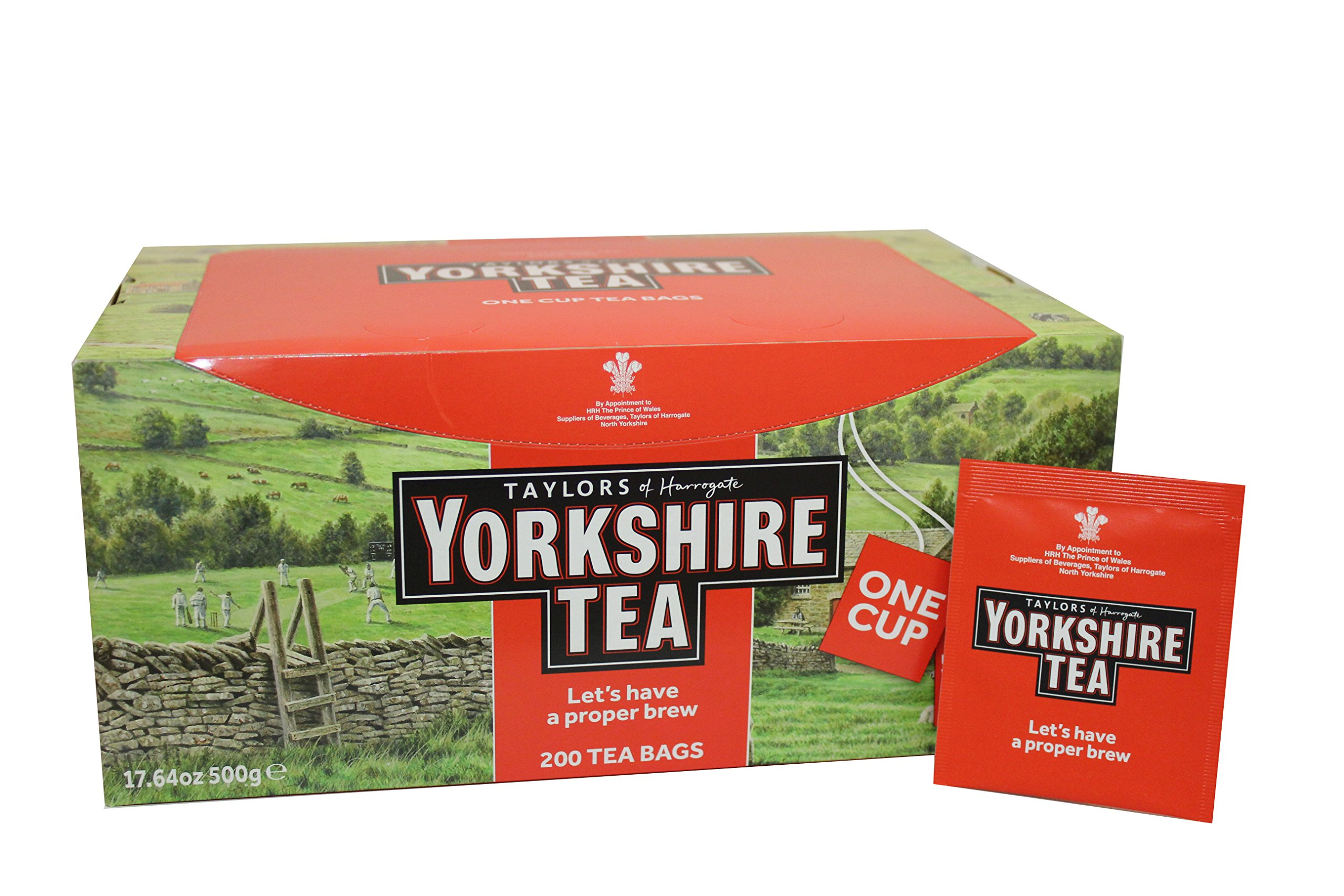 Taylors of Harrogate Yorkshire Red Wrapped Tea Bags, 200 Count