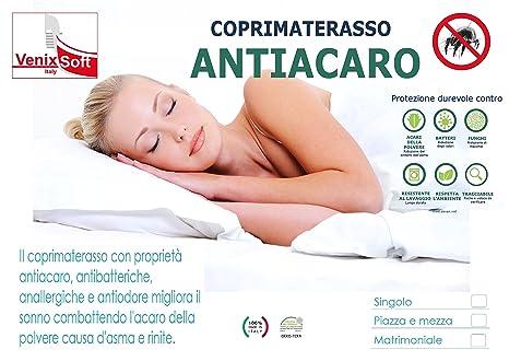 venixsoft Funda de colchón elastizada con Tratamiento Anti-ácaro Individual 80-85 - 90