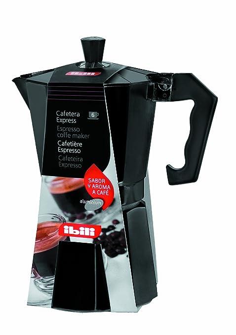 Ibili Bahía Black 612212 - Cafetera express, 12 tazas, color negro ...