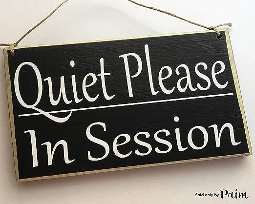 CELYCASY Silencioso por Favor en sesión 8 x 6 Cartel de ...