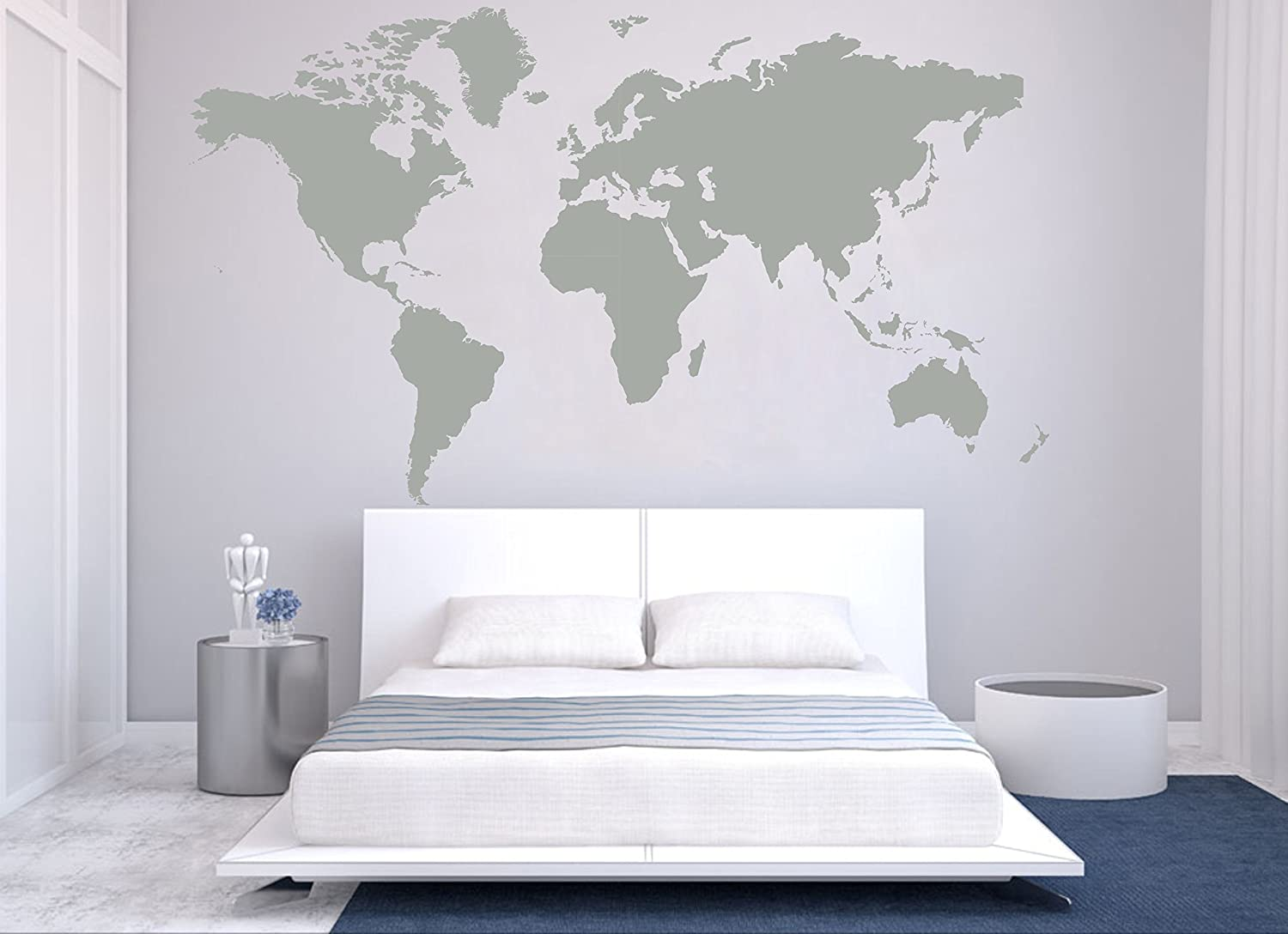Amazon Removable Vinyl Wall Sticker Large World Map Wall Decal
