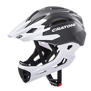 Cratoni C-Tracer – Casco de Maniac, Niños, Color Black-White Matt
