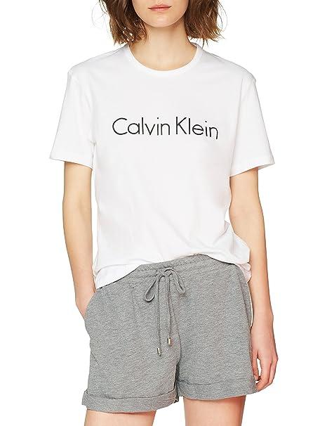 Calvin Klein S/S Crew Neck, Top de Pijama para Mujer: Amazon.es: Ropa y accesorios