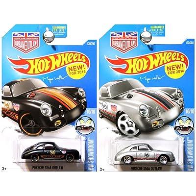 Hot Wheels 2016 Magnus Walker's Silver 356A Porsche Outlaw Black and Silver 2-Car Set: Toys & Games