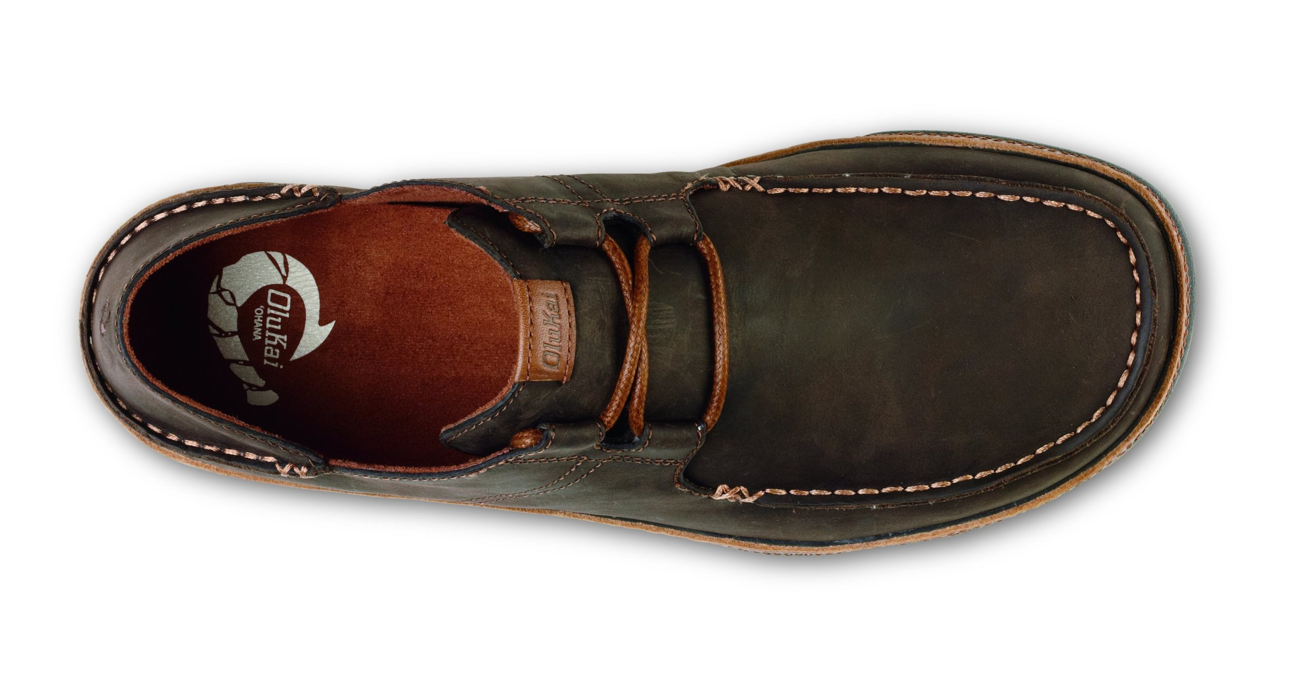 OluKai 'Ohana Lace-Up Nubuck Shoe - Men's Dark Wood/Toffee 9.5 by OluKai (Image #2)