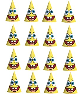 SpongeBob Squarepants Happy Birthday Paper Party Hat 16ct Supply