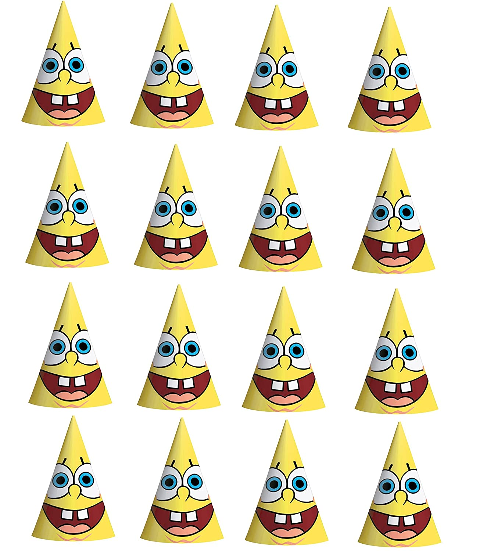 Amazon.com: Bob Esponja Happy gorro de fiesta de papel para ...