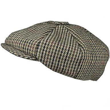 056c3b9b12a Hey Hey Twenty - Mens 8 Panel Newsboy Flat Cap - Tweed Wool Blend ...