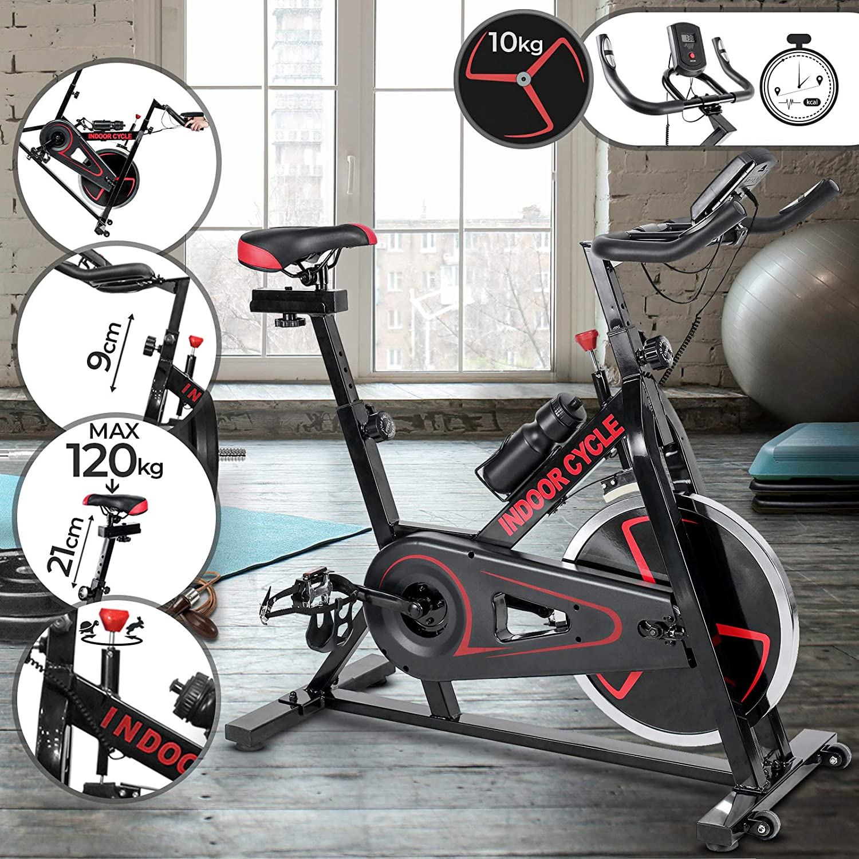 Physionics Bicicleta Estática de Spinning - con Resistencia ...
