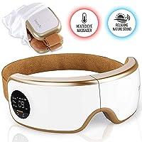 Stress Therapy Electric Eye Massager - Wireless Digital Mask Machine w/ Heat Compress...