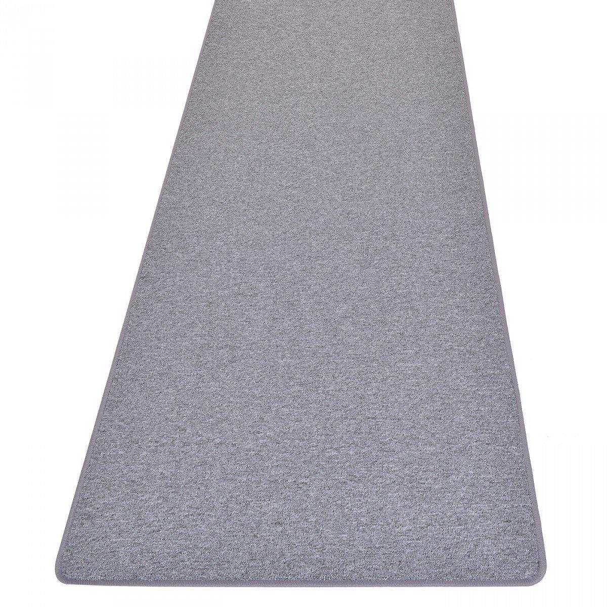 Havatex Schlingen Teppich Läufer Torronto - Prüfsiegel  Blauer Engel   schadstoffgeprüft und pflegeleicht   robust strapazierfähig   Flur Diele Eingang Schlafzimmer, Farbe Grau, Größe 67 x 450 cm