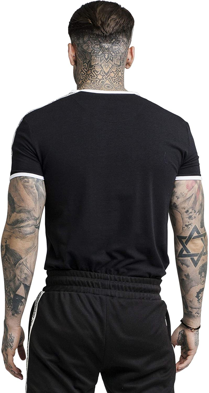 Sik Silk Herren T-Shirt SS Taped Taped Taped Runner Tee SS-14260 schwarz B07NKKGF2T T-Shirts Youzi Produkte 2d3b4c