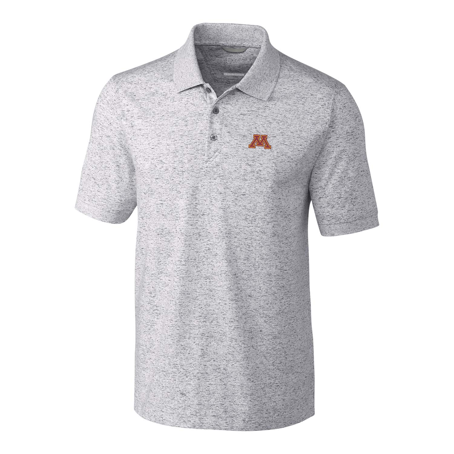 Elemental Grey Medium NCAA Mens Short Sleeve Space Dye Advantage Polo