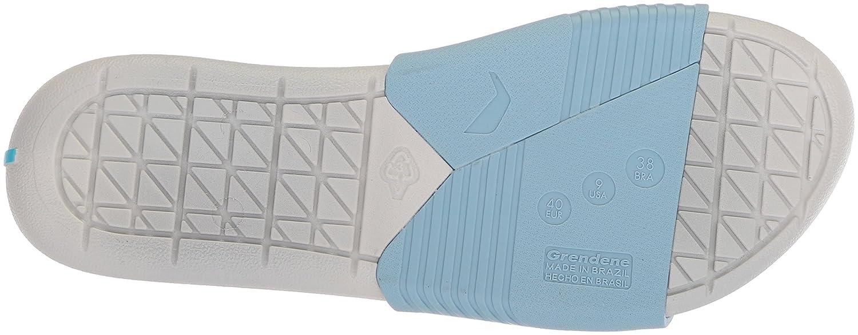 Rider Women's Prana Slide Sandal B076MPN263 9 B(M) US|Grey/Blue/Orange