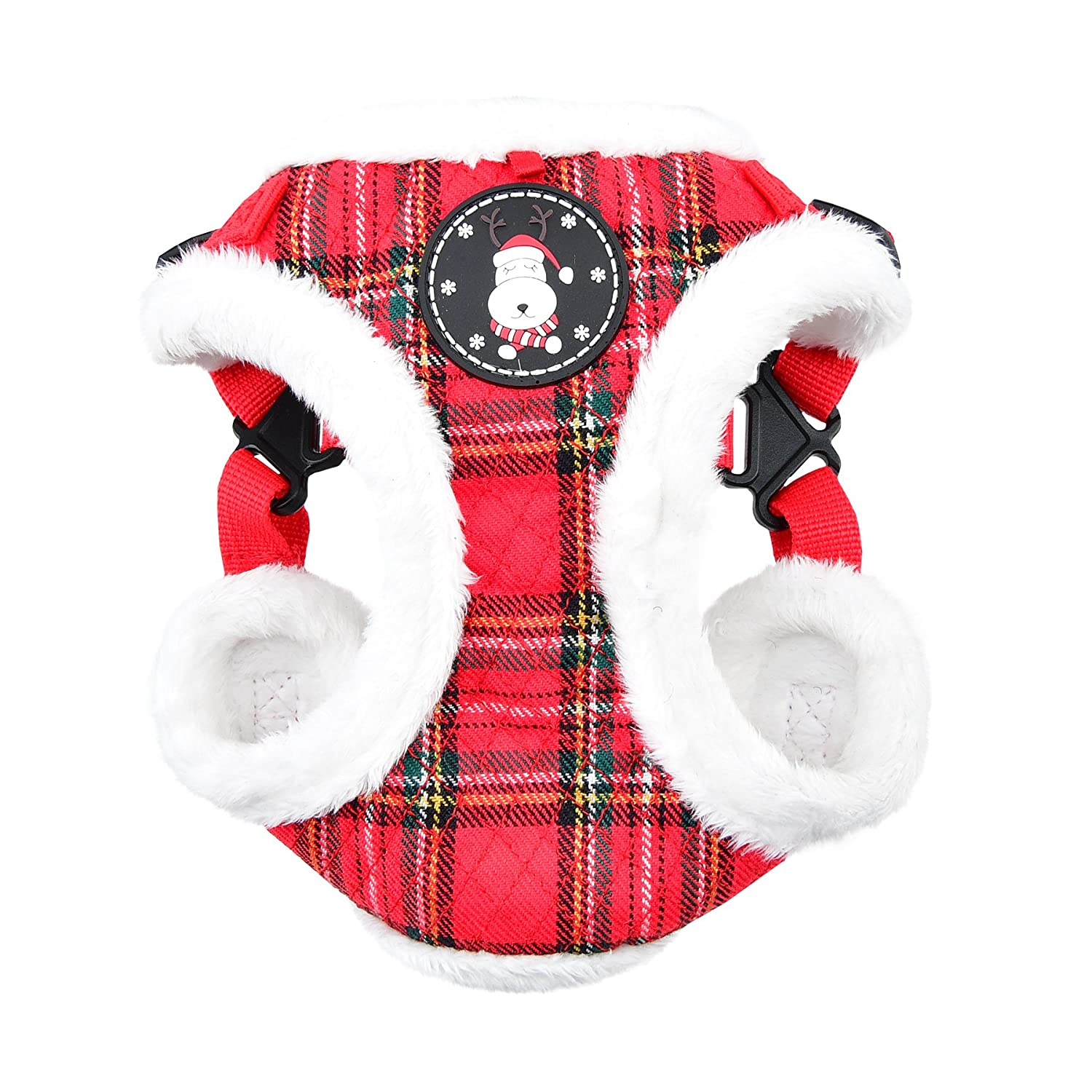 Checkered Red X-Large Checkered Red X-Large Puppia Blitzen Harness C, X-Large, Checkered Red